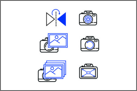 Download Free Creative Camera Icon Bundle Graphic By Deniprianggono78 for Cricut Explore, Silhouette and other cutting machines.