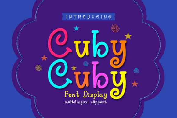Print on Demand: Cuby Cuby Display Font By Rabas Design