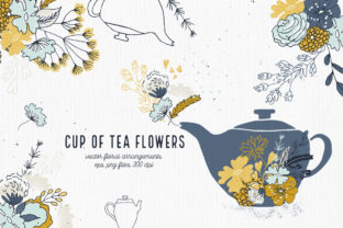 Cup of Tea Flowers Graphic By webvilla