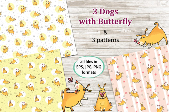 Print on Demand: Curious Dog Collection Graphic Patterns By Zooza Art - Image 4