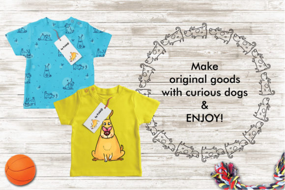 Print on Demand: Curious Dog Collection Graphic Patterns By Zooza Art - Image 5
