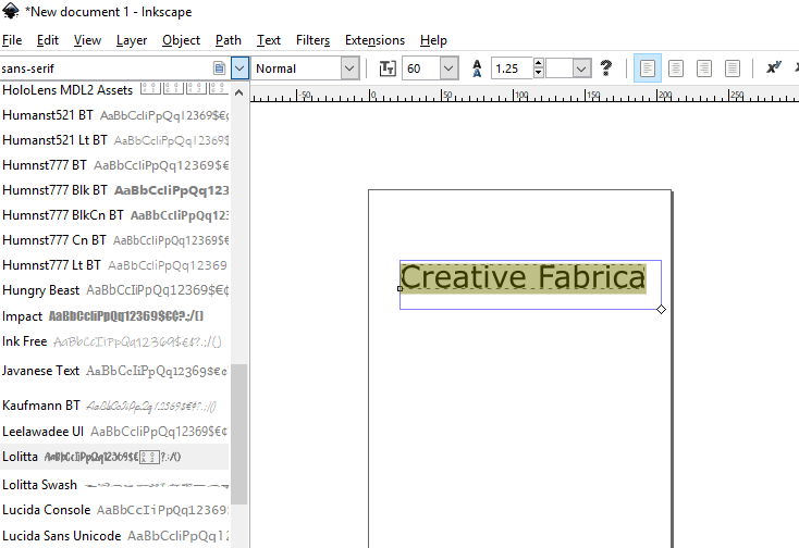 Download Free How To Use Installed Fonts In Inkscape Creative Fabrica for Cricut Explore, Silhouette and other cutting machines.