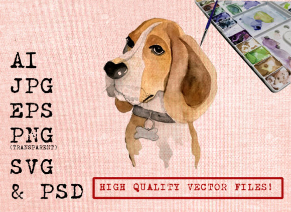 Cute Dog Graphic Illustrations By Ambar Art - Image 1