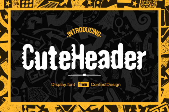 Print on Demand: Cute Header Display Font By ContestDesign