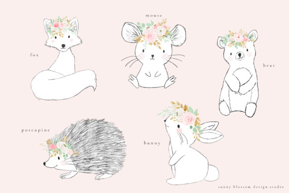 Cute Woodlands II Graphic Illustrations By Sunny Blossom Designs - Image 3