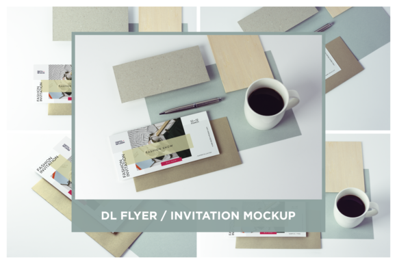 DL Flyer / Invitation Mock-up Graphic Product Mockups By dumitrasconiu.design - Image 1