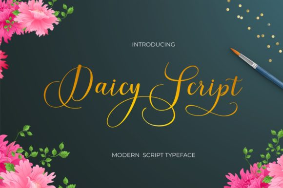 Daicy Script Font By Posts Type Image 2