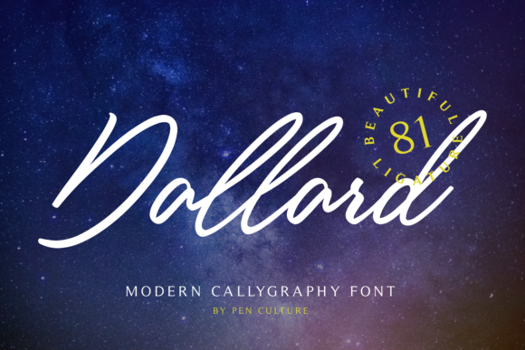 Print on Demand: Dallard Script & Handwritten Font By Pen Culture