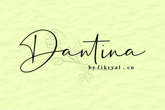 Print on Demand: Dantina Script & Handwritten Font By mfikryalif