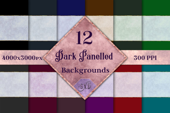 Dark Paneled Background Set Graphic By SapphireXDesigns