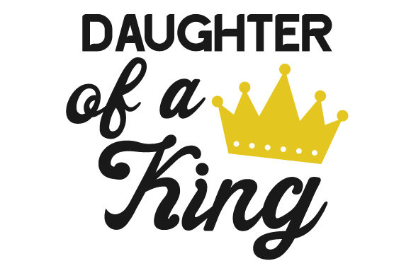 Daughter of a King Kids Craft Cut File By Creative Fabrica Crafts