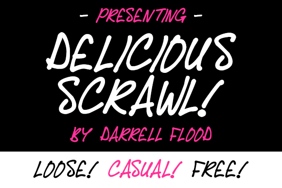 Print on Demand: Delicious Scrawl Script & Handwritten Font By Dadiomouse