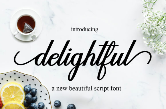 Print on Demand: Delightful Script Script & Handwritten Font By Mrletters - Image 1