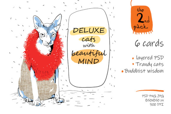Print on Demand: Deluxe Cats with Beautiful Mind Graphic Illustrations By Zooza Art