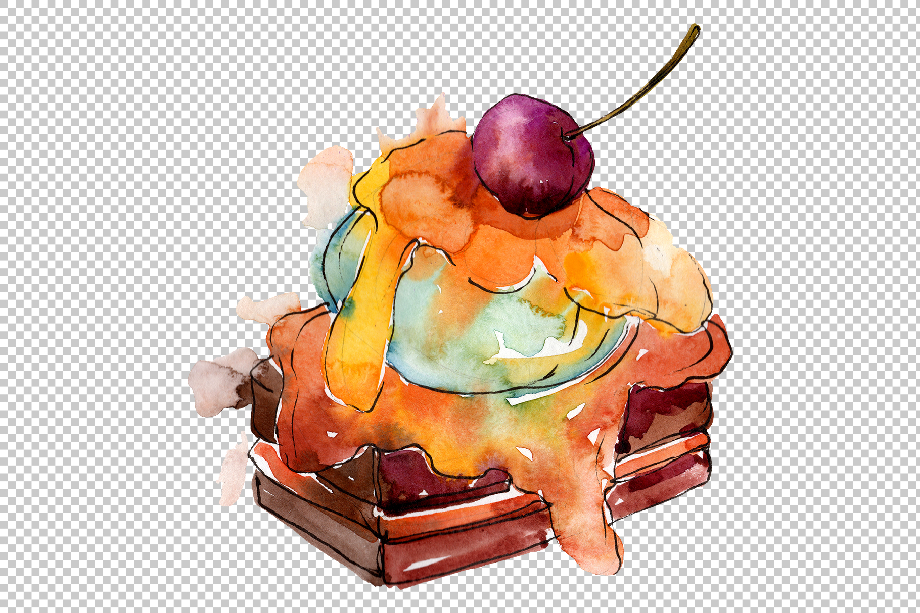 Download Free Dessert Appetizing Watercolor Graphic By Mystocks Creative Fabrica SVG Cut Files