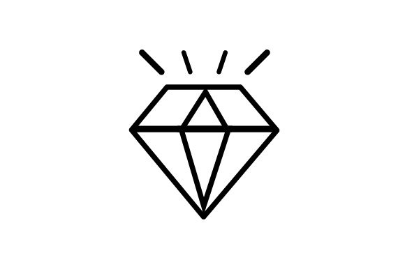 Download Free Diamond Icon Grafico Por Arus Creative Fabrica for Cricut Explore, Silhouette and other cutting machines.