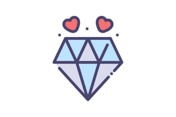 Download Free Diamond Icon Grafico Por Rudezstudio Creative Fabrica for Cricut Explore, Silhouette and other cutting machines.