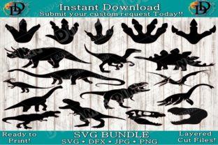 Print on Demand: Dinosaur Clipart Bundle Graphic Crafts By dynamicdimensions