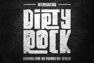 Print on Demand: Dirty Rock Display Font By putracetol