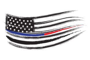 Distressed American Flag with Thin Blue and Thin Red Lines Fire & Police Craft Cut File By Creative Fabrica Crafts