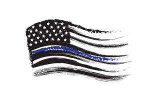 Distressed American Flag with Thin Blue Line Fire & Police Craft Cut File By Creative Fabrica Crafts