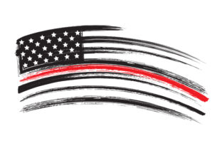 Distressed American Flag with Thin Red Line Craft Design By Creative Fabrica Crafts