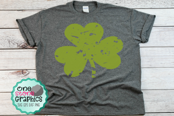 Distressed Clover Graphic Crafts By OneStoneGraphics