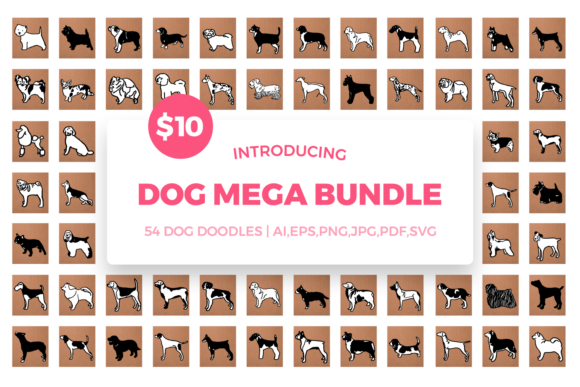 Dog Mega Bundle Graphic By duka Image 1
