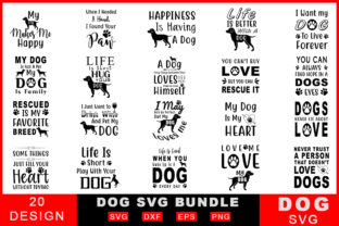 Download Free Dog Bundle Graphic By Creativesvg Creative Fabrica for Cricut Explore, Silhouette and other cutting machines.
