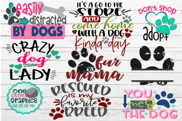 Download Free Dog Bundle Graphic By Onestonegraphics Creative Fabrica for Cricut Explore, Silhouette and other cutting machines.