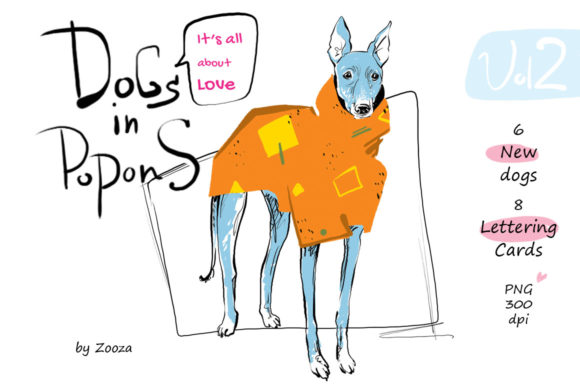 Dogs in Popons - It's All About Love Graphic By Zooza Art