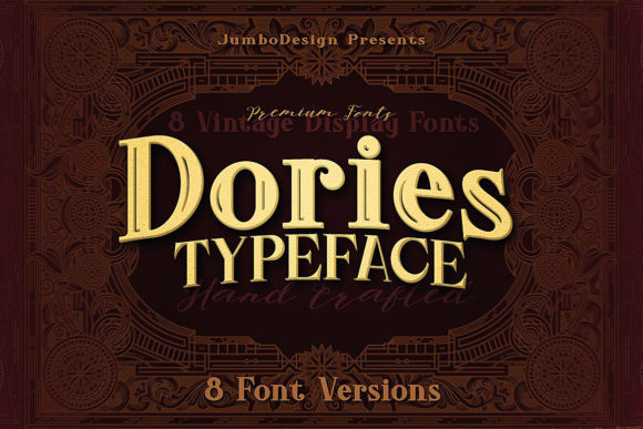 Dories Family Display Font By JumboDesign