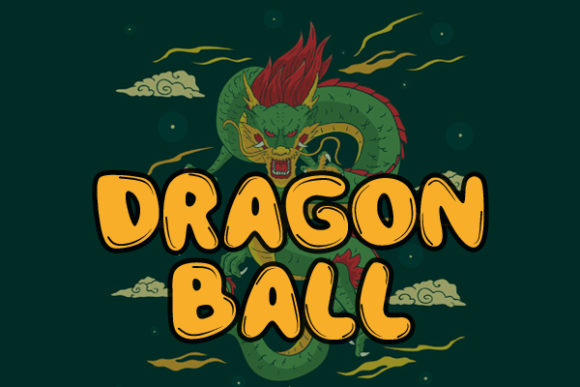 Print on Demand: Dragon Ball Sans Serif Fuente Por Docallisme