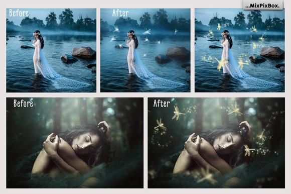 Print on Demand: Dragonfly Photo Overlays Graphic Layer Styles By MixPixBox - Image 3