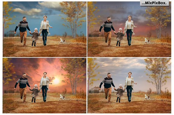 Print on Demand: Dramatic Sky Overlays Graphic Layer Styles By MixPixBox - Image 2