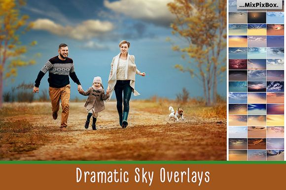 Print on Demand: Dramatic Sky Overlays Graphic Layer Styles By MixPixBox
