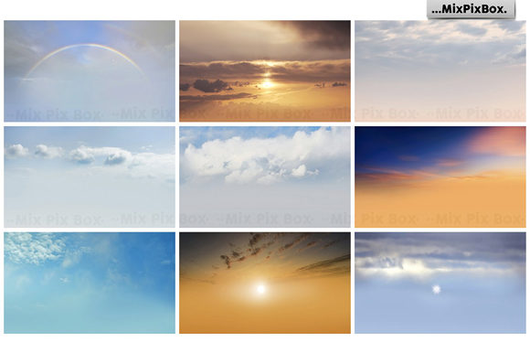 Print on Demand: Dramatic Sky Overlays Graphic Layer Styles By MixPixBox - Image 7