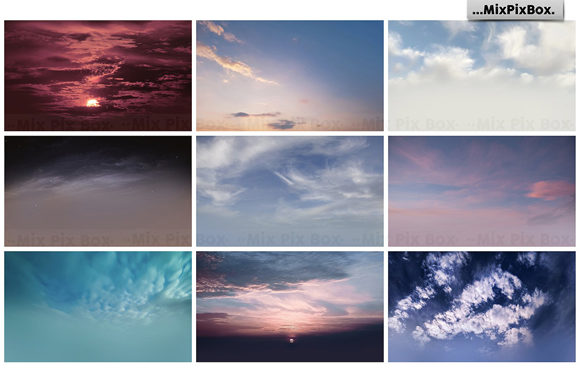Print on Demand: Dramatic Sky Overlays Graphic Layer Styles By MixPixBox - Image 9
