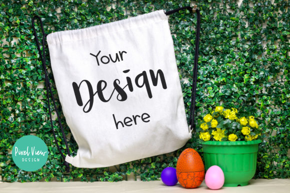 Print on Demand: Drawstring Backpack - Easter Mockup Graphic Product Mockups By Pixel View Design - Image 1