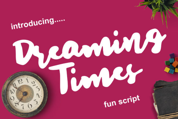 Print on Demand: Dreaming Times Script & Handwritten Font By Lettersiro Co.