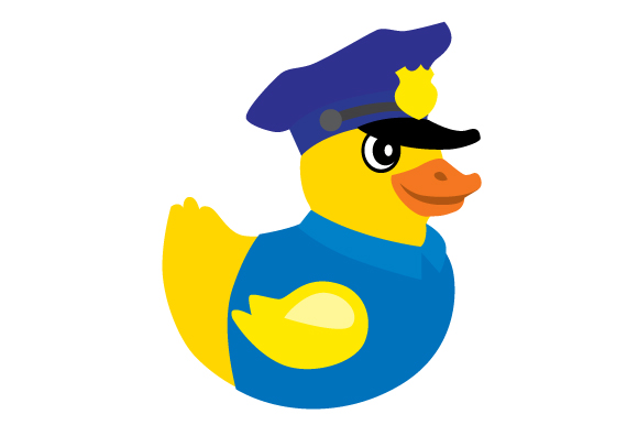 Download Free Duck Police Svg Cut File By Creative Fabrica Crafts Creative for Cricut Explore, Silhouette and other cutting machines.