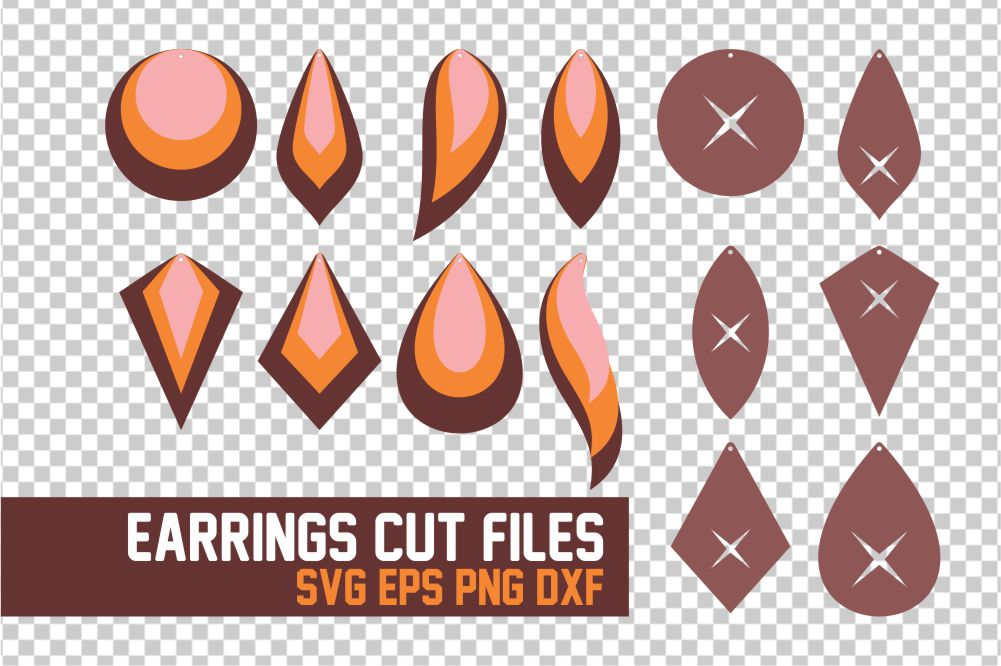 Download Free Earrings Graphic By Acelea Creative Fabrica for Cricut Explore, Silhouette and other cutting machines.