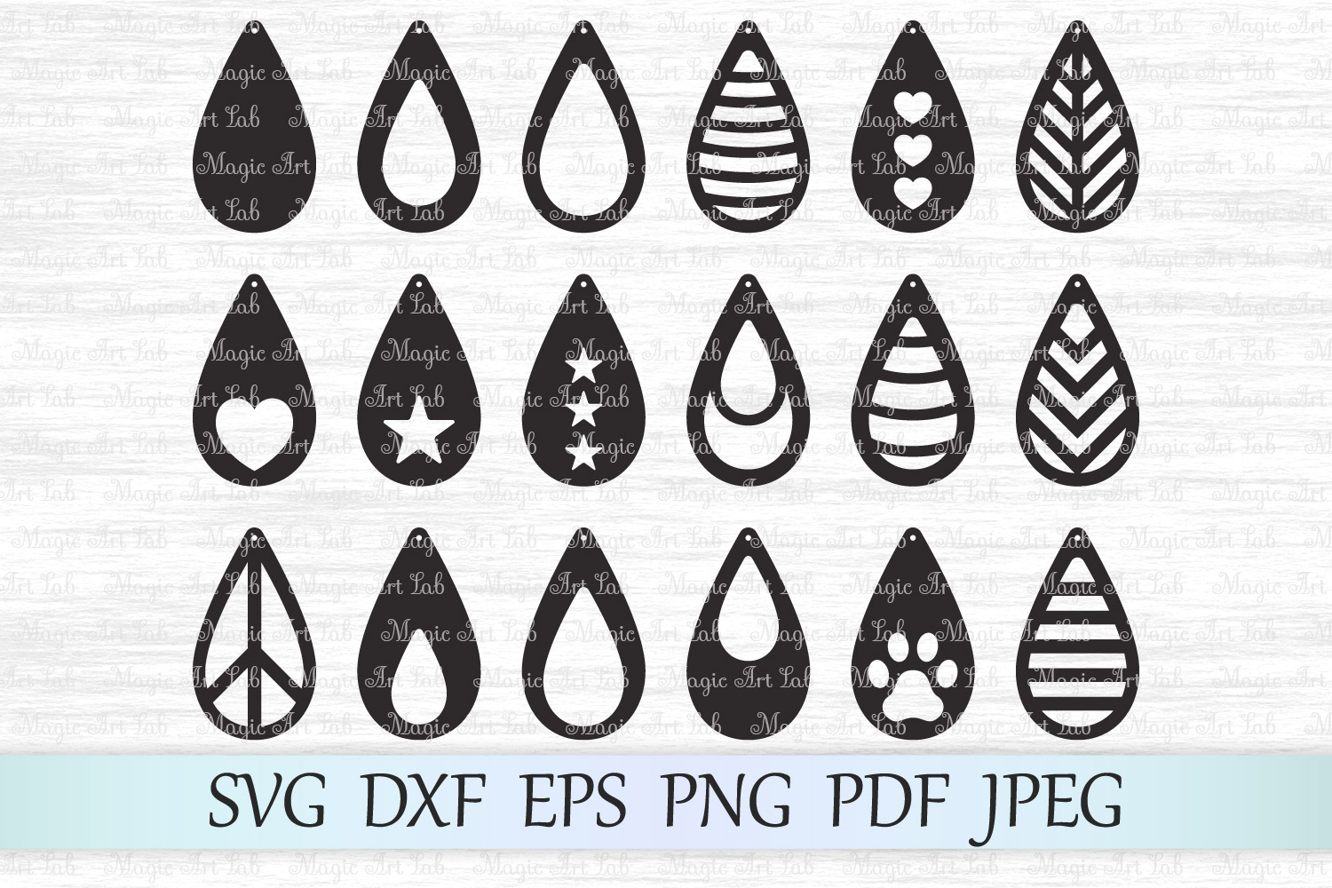 Download Free Earrings Graphic By Magicartlab Creative Fabrica for Cricut Explore, Silhouette and other cutting machines.