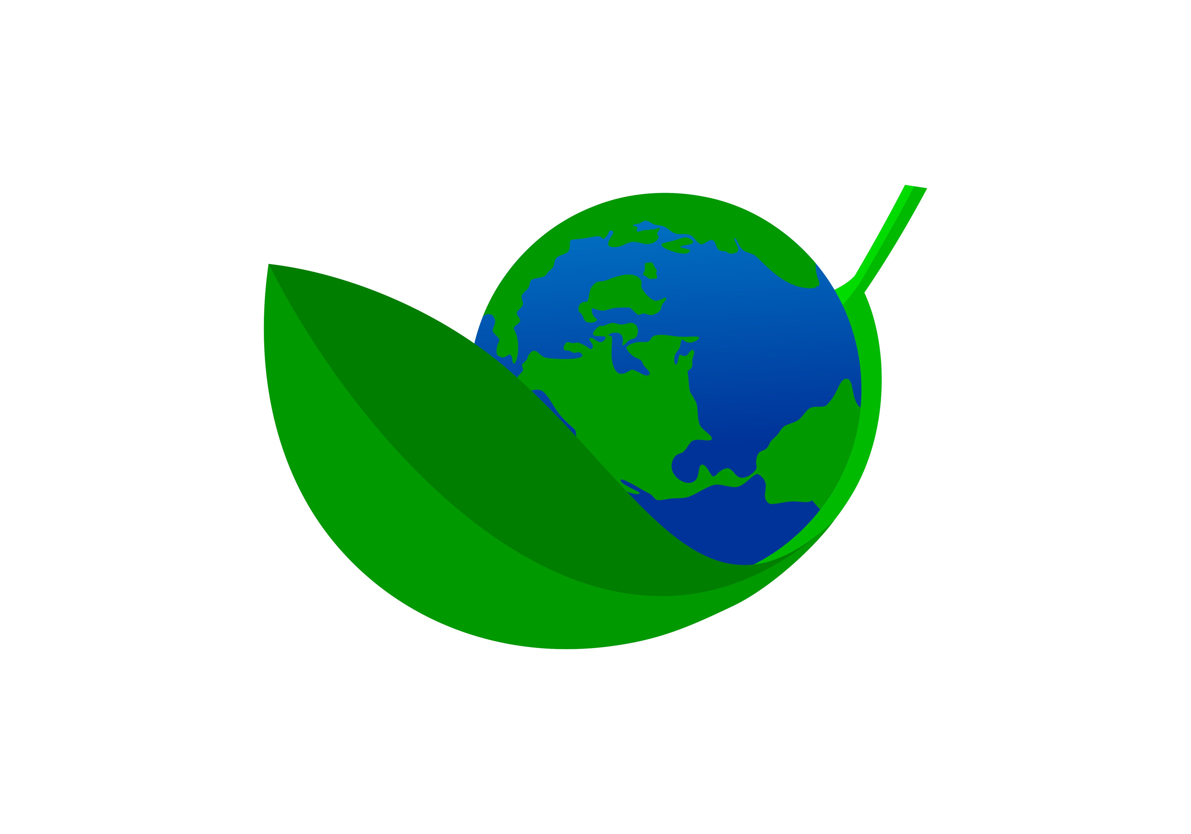 Download Free Earth Globe Mother Earth Logo Vector Graphic By Deemka Studio for Cricut Explore, Silhouette and other cutting machines.