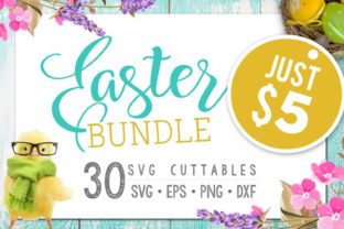 Download Free Easter Bundle 30 Easter Files Graphic By Blackcatsmedia for Cricut Explore, Silhouette and other cutting machines.