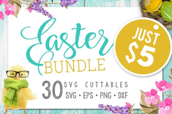 Easter Bundle - 30 Easter SVG Files Graphic Crafts By BlackCatsMedia
