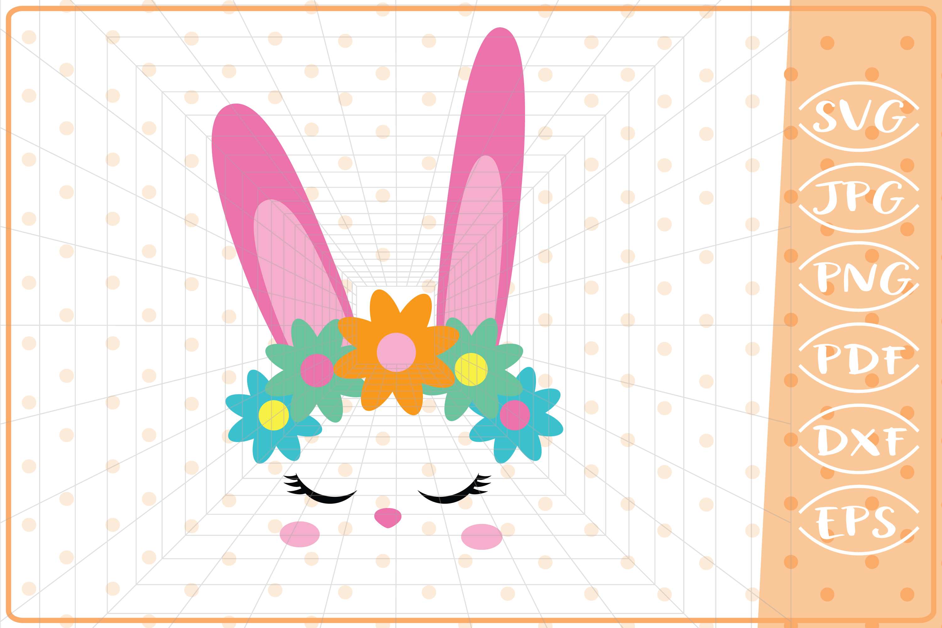 Download Free Easter Bunny Face Graphic By Cute Graphic Creative Fabrica for Cricut Explore, Silhouette and other cutting machines.