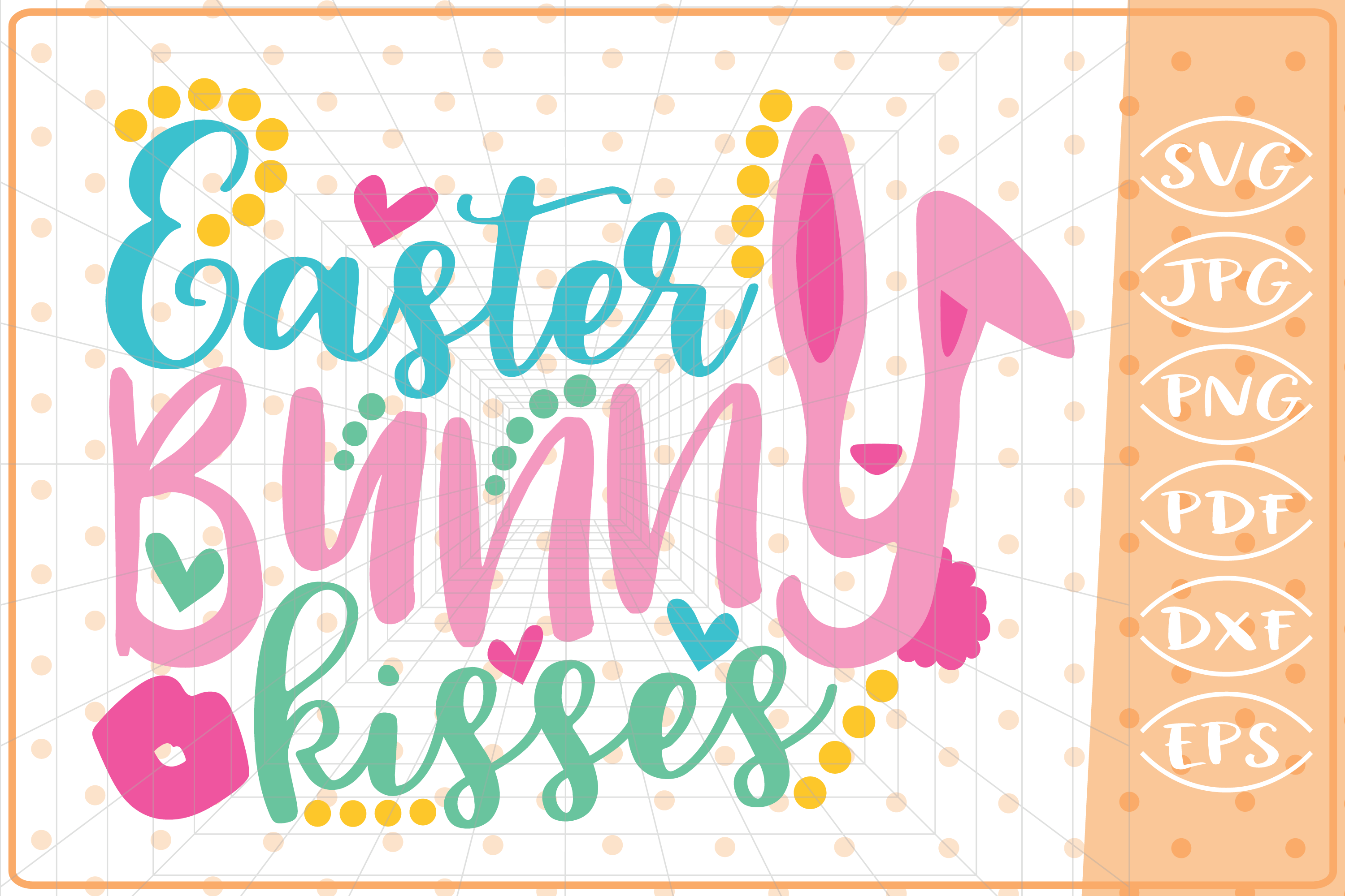 Download Free Easter Bunny Kisses Graphic By Cute Graphic Creative Fabrica for Cricut Explore, Silhouette and other cutting machines.