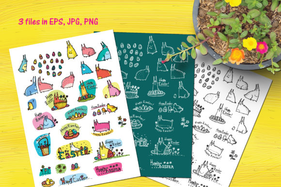 Download Free Easter Doodles Graphic By Zooza Art Creative Fabrica for Cricut Explore, Silhouette and other cutting machines.