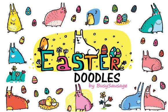 Print on Demand: Easter Doodles Graphic Illustrations By Zooza Art